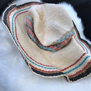 Volcom floppy straw hat